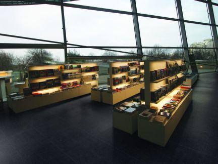 图书馆设计书架效果图