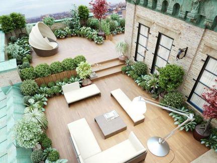 欧式屋顶花园装修图片
