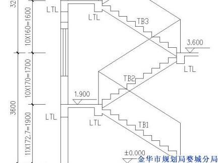 2014双跑楼梯剖面图