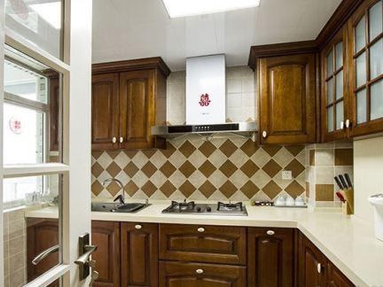 美式家庭厨房装修设计效果图