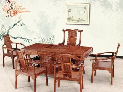 非洲花梨木茶桌图片