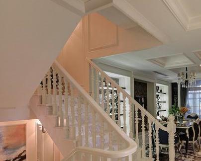 简欧家庭楼梯设计图片