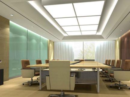 会议室室内吊顶装饰设计效果图