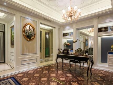 豪华欧式书房家居装饰设计效果图