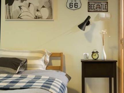 田园风格卧室台灯图片