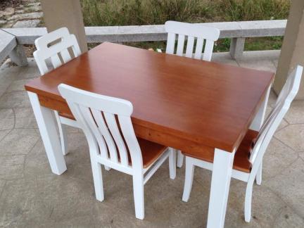 家居实木餐桌餐椅设计图片