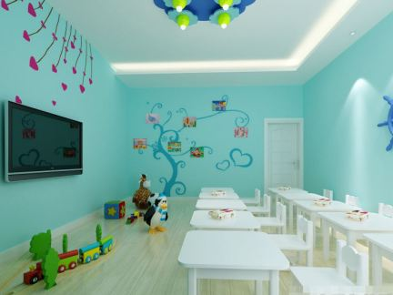 幼儿园教室墙面布置图片大全