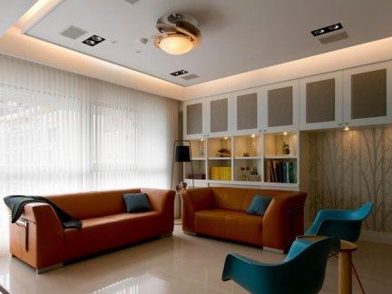 时尚日式混搭130平米三居室内装修图片