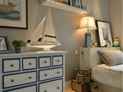 美式地中海卧室家具装饰图片