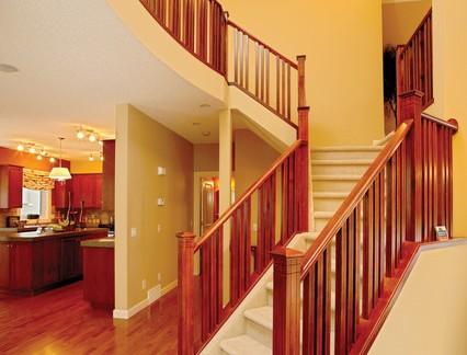 实木家用楼梯扶手图片