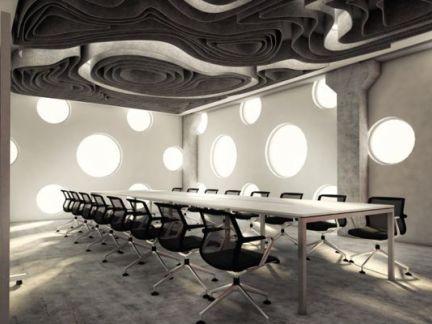 创意会议室室内设计效果图欣赏