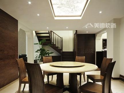 简中式餐厅效果图