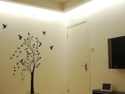 简单彩绘墙