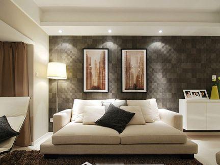 简约室内客厅折叠沙发床背景墙画图片