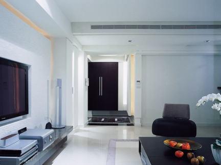 120平米现代简约三室一厅装修效果图