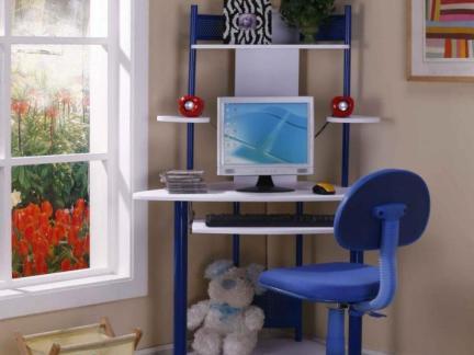 卧室电脑桌书架装修效果图-2018卧室电脑桌图片 房天下装修效果图