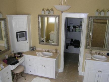 2016美式实木整体浴柜效果图-房天下装修效果图图片