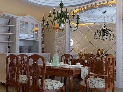 英式装修风格室内餐厅家居效果图
