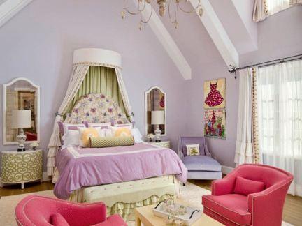 欧式风格阁楼女生卧室装修