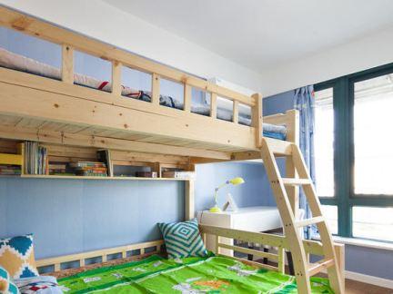 现代家居上下铺儿童房装修
