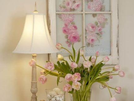 鲜花窗户简笔画