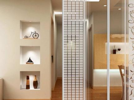 2018卫浴玻璃砖隔墙图片 房天下装修效果图图片