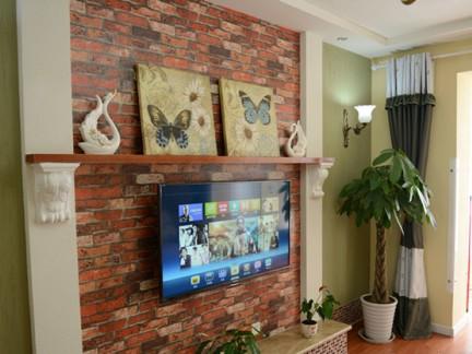 田园风格电视墙-今朝装饰