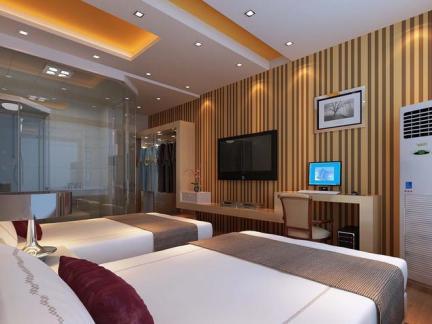宾馆双人房间装饰设计效果图