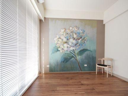现代日式室内墙绘效果图图片