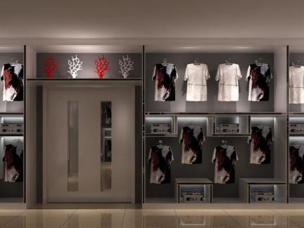 服装店欧式复古装修效果图图片