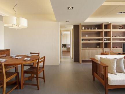 中式餐厅客厅一体设计