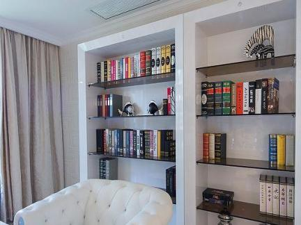 2017书架创意壁纸 房天下装修效果图