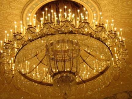 现代欧式铁艺吊灯图片