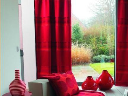 布艺家居沙发窗帘布置图片