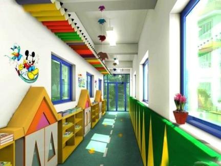幼儿园楼道装修图片
