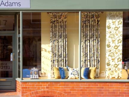 窗帘店橱窗装修效果图