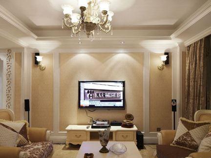 欧式风格家装客厅电视背景墙图片大全