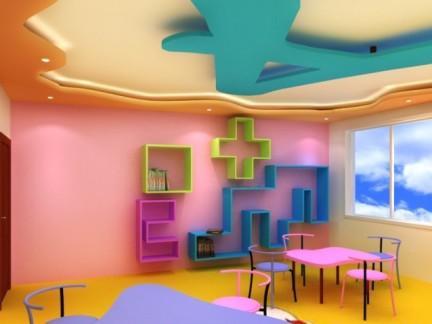 幼儿园教室墙面布置图片
