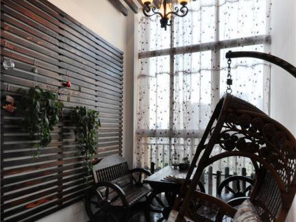 美式设计封闭式阳台图片