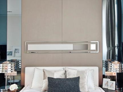 北欧设计装饰卧室床头背景墙图片