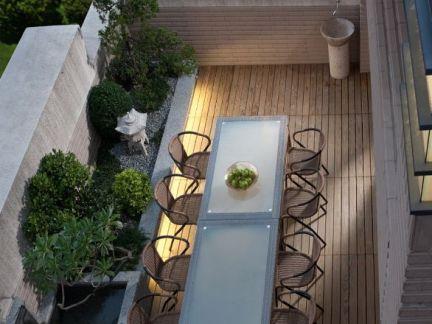顶楼露天阳台装修设计图