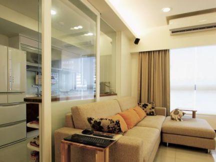 装修室内客厅玻璃隔断欣赏