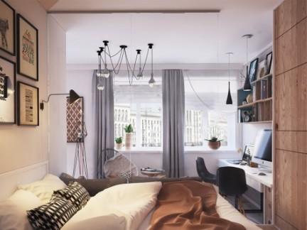 40平方时尚灰调简约小公寓