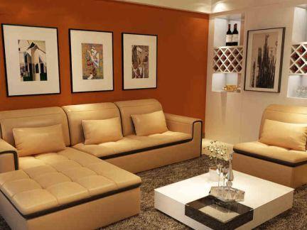 现代简欧皮沙发