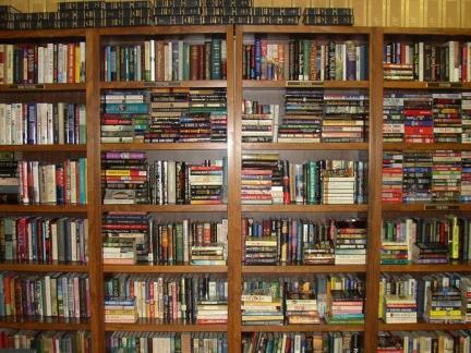 欧式图书馆书架