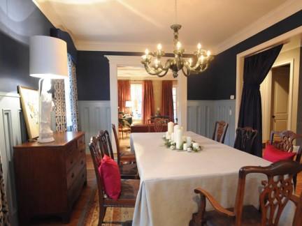 长方形家用餐桌椅装饰