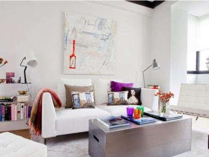 功能强大的鲜艳复式小公寓