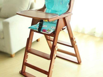 实木宝宝餐椅图片