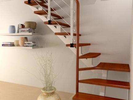 红木家庭楼梯踏步设计