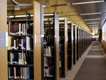 图书馆室内书架装饰效果图